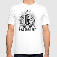 Gold Spirit Art Mens Fitted Tee SMALL White
