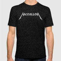 MASSILLON Mens Fitted Tee Tri-Black SMALL
