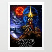 Stone Wars Art Print