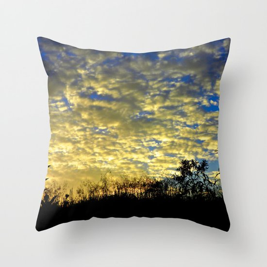 Shadows of Fall Throw Pillow