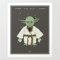 Yoda Toy Patent - Colour Art Print