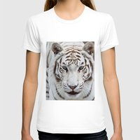TIGER TIGER Womens Fitted Tee White SMALL