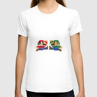 mario T-shirts featuring Mario by Megan Twisted