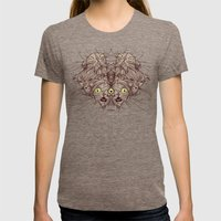 Wet Cats Womens Fitted Tee Tri-Coffee SMALL