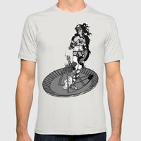 Birth Of Venus Reimagine… Mens Fitted Tee Silver SMALL