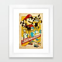 Lightning Cup Nights: The Fast & the Fungus Framed Art Print