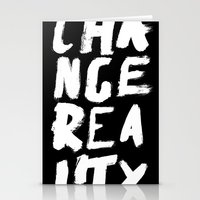 Change Reality - Handwritten Typography Stationery Cards