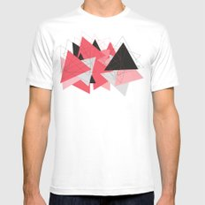 Triangle U185 Mens Fitted Tee SMALL White