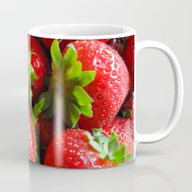 Abstract Strawberry Art Mug