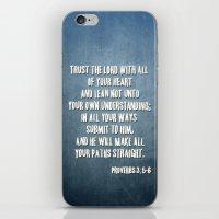 PROVERBS 3:5-6 iPhone & iPod Skin