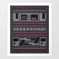 Old School Sweater Art Print