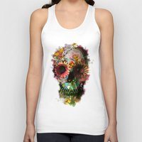 Tank Tops featuring SKULL 2 by Ali GULEC