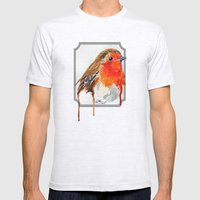 Robin Mens Fitted Tee Ash Grey SMALL