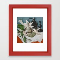 Kiwi Fruit & Lillies Framed Art Print