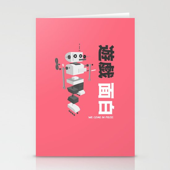 We Come in Pieces  Stationery Card