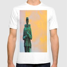 A Soldier's Sunset White SMALL Mens Fitted Tee
