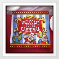Welcome To The Carnival Art Print