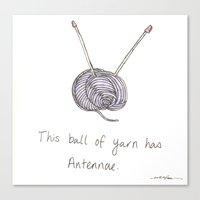 This Ball of Yarn has Antennae. Canvas Print