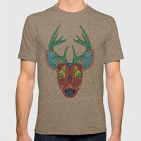 Intergalactic Deer Mens Fitted Tee Tri-Coffee SMALL