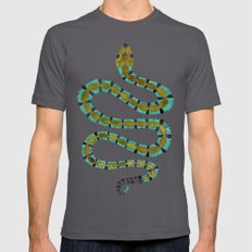 Turquoise Serpent Mens Fitted Tee Asphalt SMALL