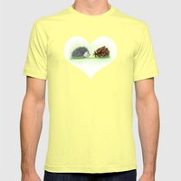 Spiky Duo Mens Fitted Tee Lemon SMALL