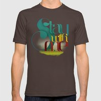 Stay Mens Fitted Tee Brown SMALL