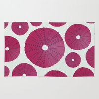 Sea's Design - Urchin Skeleton (Deep Pink) Rug