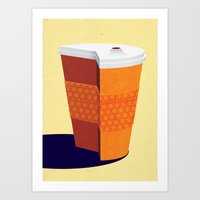 Cut down on Coffee Art Print