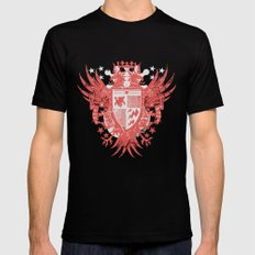 Lost coat of arms Mens Fitted Tee Black SMALL