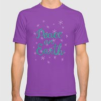 Peace On Earth. Mens Fitted Tee Ultraviolet SMALL