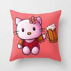 Kitty-chan Throw Pillow