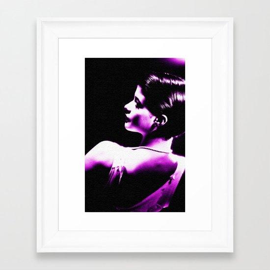 VIOLET WOMAN  Framed Art Print