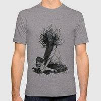 Free Falling Mens Fitted Tee Athletic Grey SMALL