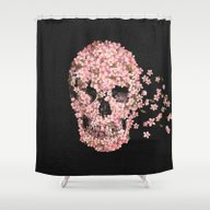 Shower Curtain featuring A Beautiful Death  by Terry Fan