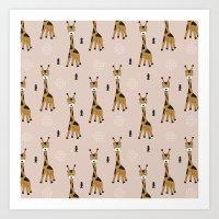 Arrows And Baby Giraffe … Art Print