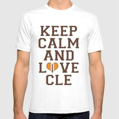 LOVE CLE BROWNS II SMALL Mens Fitted Tee White