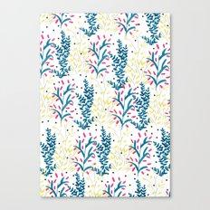 bright flowers. Illustration, pattern, flowers, floral, print,  Canvas Print