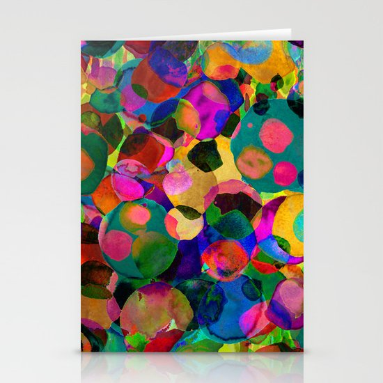 Rainbow Spot Stationery Card