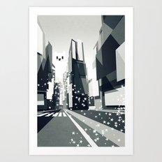 Yeti coming to town. Art Print