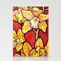 Yellow Lillies Stationery Cards