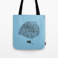 Spidermaps #1 Dark Tote Bag