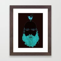 Beard and Bird Framed Art Print