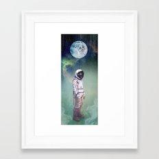 Moon Balloon Framed Art Print