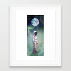 Moon Balloon Framed Art Print