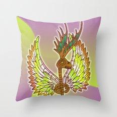 Skeletalope Throw Pillow