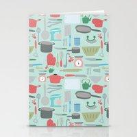 Kitchen Pattern Stationery Cards