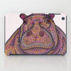 Hippie-Potamus (Pink) iPad Case
