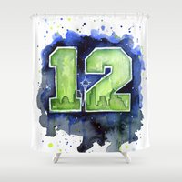12th Man Seahawks Seattl… Shower Curtain