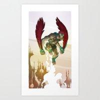 Stratos - He-Man's Flying Friend  Art Print