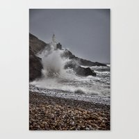 Mumbles Wild Waves. Canvas Print